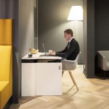 1.6)  Homefit Space Saving Height Adjustable Desk