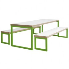 Block Steel Bench