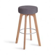 Oak Frame High Stool