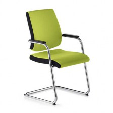 Black Dot Cantilever Confernce Armchair
