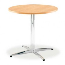 Lifestyle Circular Chrome Dining Table